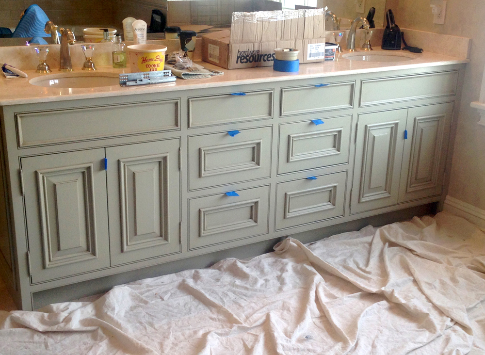 Classic Custom Cabinetry and Millwork being installed and painted