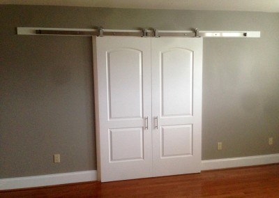 Custom sliding bedroom doors - how unique! Engineered by Ricco Builders