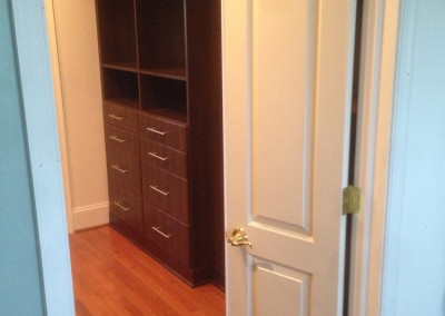 Another view of the custom walk-in closet engineered by Ricco Builders