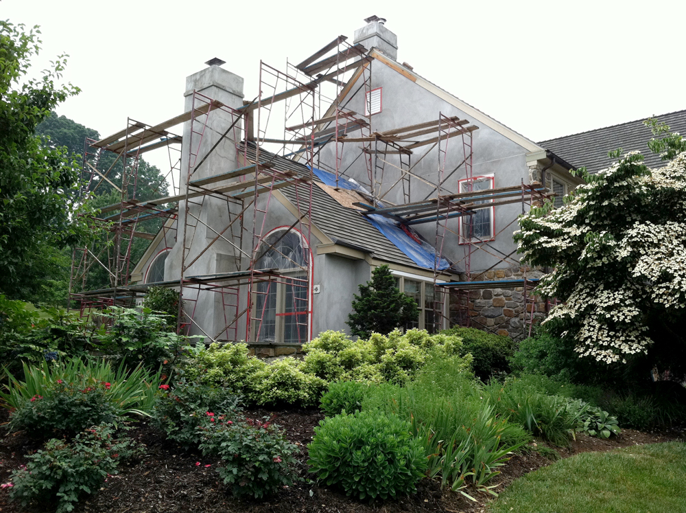 Exterior Remodeling In Progress