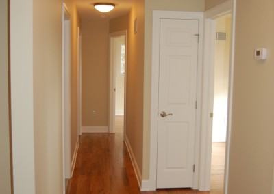 Interior enhancements: Hallway and home remodeling