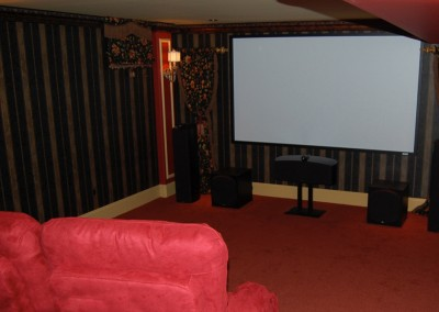 A basement fit for the movie buff!
