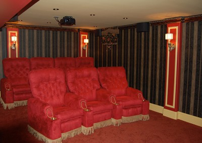 Home Theater Movie Room Refinished Basement