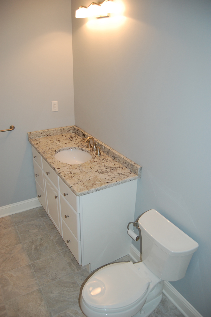 Bathrooms ricco building group for Simple bathroom renovations