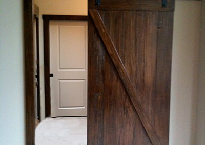 Sliding Barn Door Entryway - Open - by Ricco Builders