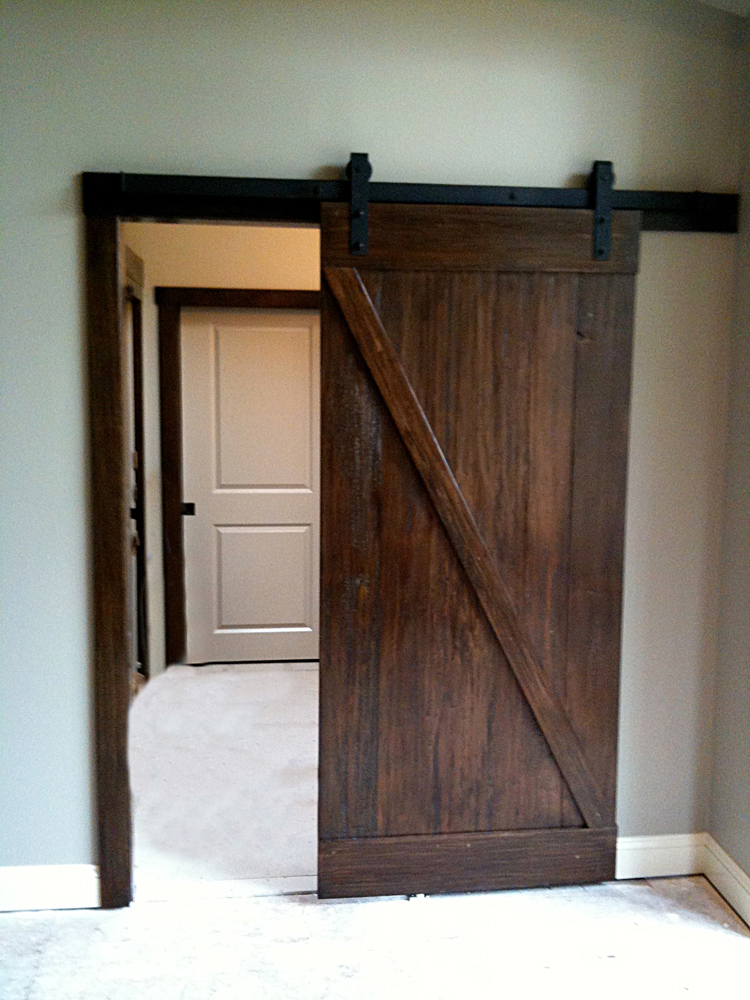 Sliding Barn Door Entryway Open By Ricco Builders