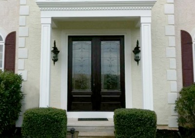 Another view of Ricco Building Group's custom portico