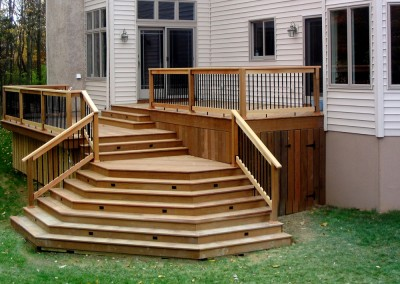 Custom Exterior deck addition by Ricco Builders