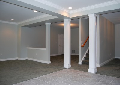 Turn your unfinished basement into a family room for your kids