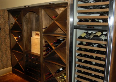 Another Custom Wine Cabinet for a Basement Remodel