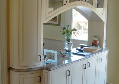 Dining room cabinetry and room separator to fit your space and needs perfectly by Ricco Builders