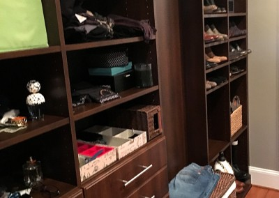 After the client moved back into the closet, it's perfect! Thanks Daryle!