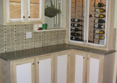 Custom Wine Cabinet enhances this interior space
