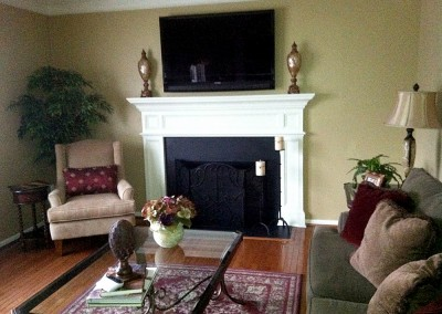 Interior enhancements: fireplace and living room remodel