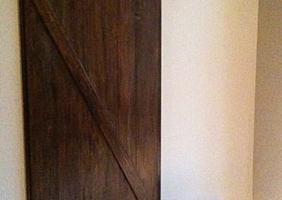 Sliding Barn Door Entryway - Closed - by Ricco Builders